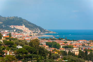 The charming town of Diano Marina, Liguria, Italy