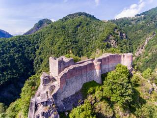 Fortress Poenari in Transylvania, one of the castles of Vlad the Impaler