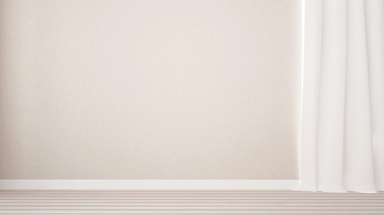 white empty room decoration in home or apartment - 3D Rendering