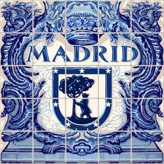 Madrid Ceramic Tiles Vector Blue Souvenir