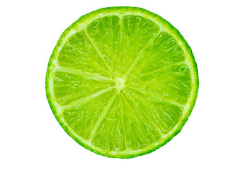 Lime in the cut close up