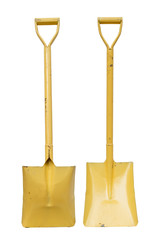 Yellow Shovel Isolated on a white background.