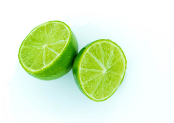 Juicy lime cut into two parts