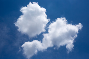 Abstract clouds in blue sky for blackground
