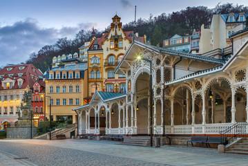 city centre of Karlovy Vary,Czech Republic