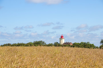 Lighthouse on the Baltic Sea island Fehmarn, Germany