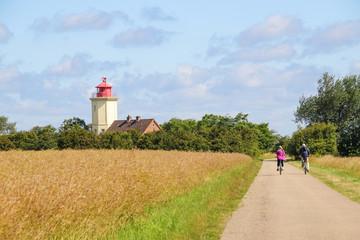 Leuchtturm, Westermarkelsdorf, Ostseeinsel Fehmarn, Radwandern