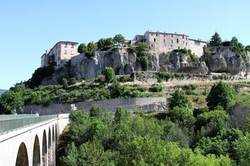 Le village perché de Sault en Provence dans le Vaucluse