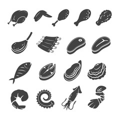cooking meat,seafood vector,illustration