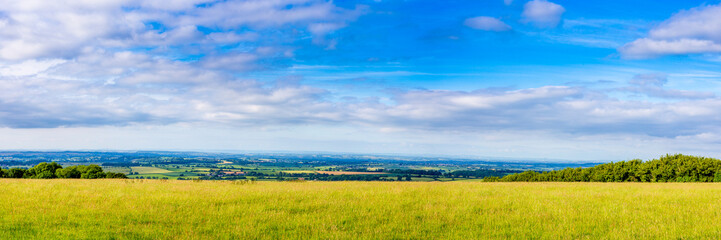 Panoramic Picture of the South Somerset Countryside