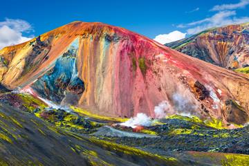 Obraz Beautiful colorful volcanic mountains Landmannalaugar in Iceland - fototapety do salonu