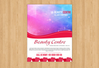 Flyer Layout with Red Accents 1