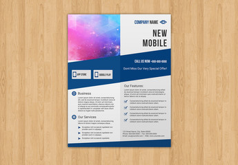 Brochure Layout with Dark Blue Elements 2