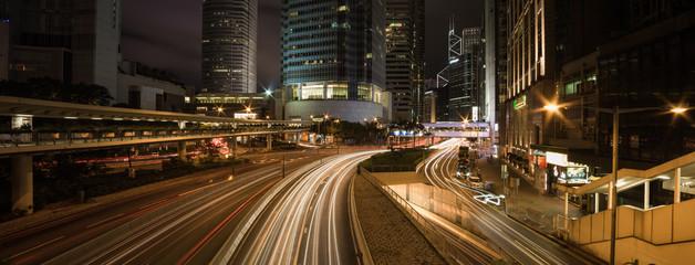 Hong Kong Central at night