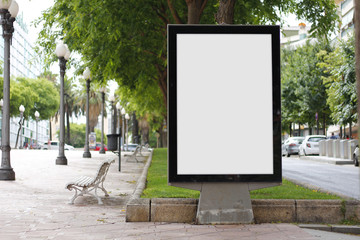 Blank billboard mock up Fotomurales