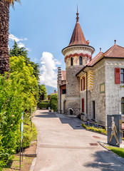 Bernese Castle in Orselina, situated in the district of Locarno in the canton of Ticino in Switzerland