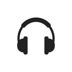 Headphone vector icon. Earphone headset sign illustration.