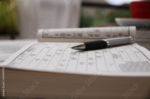 Rätsel Worte Kreuzworträtsel Stockfotos Und Lizenzfreie