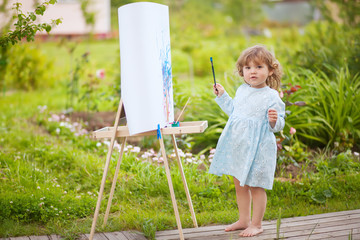 Adorable little painter