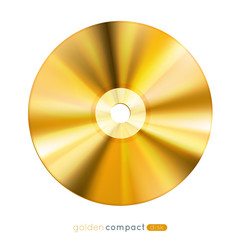 Golden disc, eps10 vector illustration