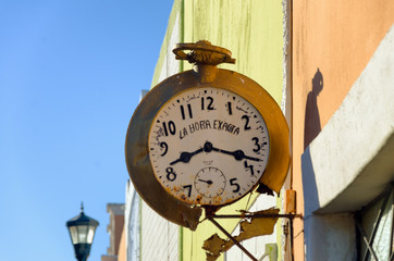 Fototapete - Old Clock on a Wall