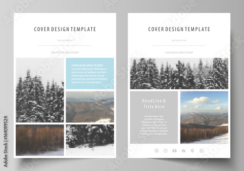 Business Templates For Brochure Magazine Flyer Booklet Report Cover Design Template