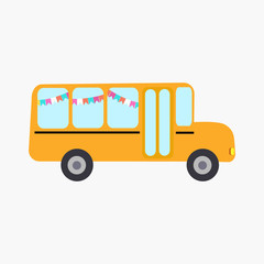 School bus vector illustration.