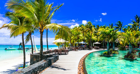 Luxury tropical vacation in Mauritius island
