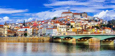 landmarks of Portugal - beautiful Coimbra town Wall mural