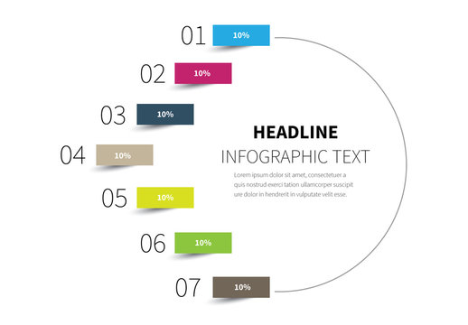 Half Circle Infographic Layout