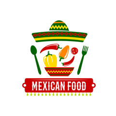 Vector icon for Mexican food restaurant