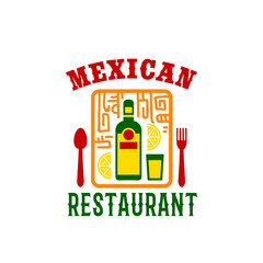 Vector icon for Mexican food restaurant menu