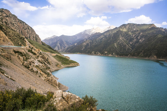 Lake in Xinjiang, China