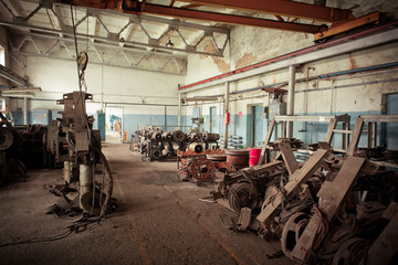 Old repair shop for electric motors