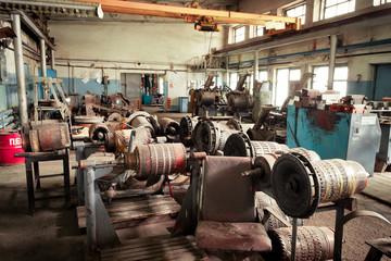 Old repair shop for electric motors