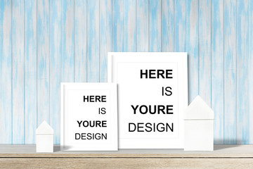 Modern home decor mock-up, Black frame with place for text. Mock up