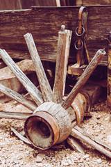 Broken Down Wagon Wheel