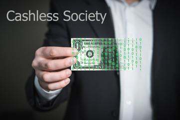 Concept of  Cashless Society, Digital money