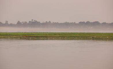 Lake scene in morning