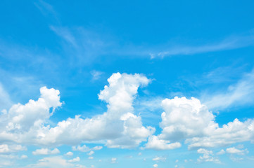 Beautiful bright summer blue sky and clouds as background