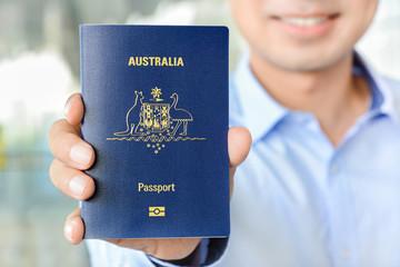A man showing passport