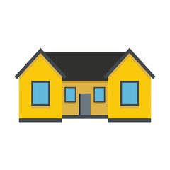 Colorful Flat Residential House. Vector illustration