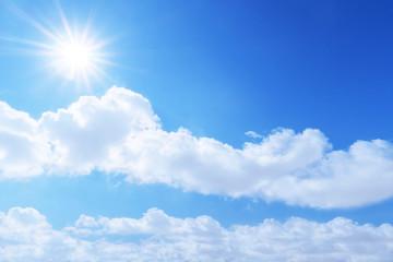 blue sky sun light