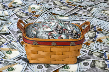 Basket full of Cash.