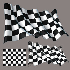 Race Checkered Finish Waving Flag