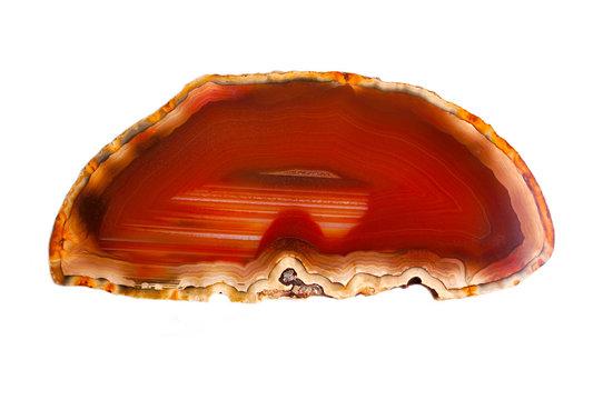 Gemstone cornelian agat close up