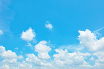 Bright blue sky & clouds as background