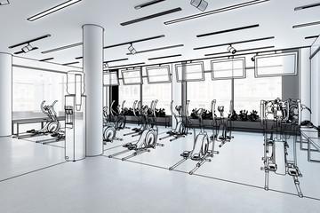 Crosstrainer im Fitness-Zenter (Vorschau)