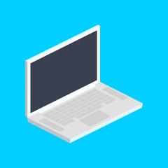 Laptop computer isometric vector illustration