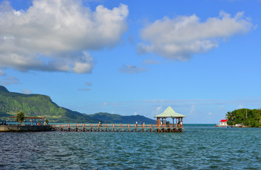 Seascape in Mahebourg, Mauritius